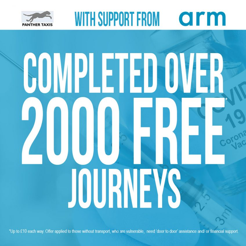 Over 2000 FREE journeys completed to and from vaccination centres