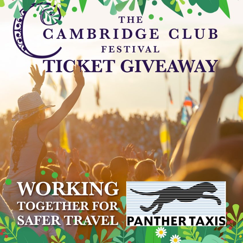2 pairs of Cambridge Club Festival tickets to giveaway